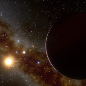 Monster planet discovered surrounding little red small star