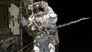 At space station, Spacewalking space explorers tackle European lab update