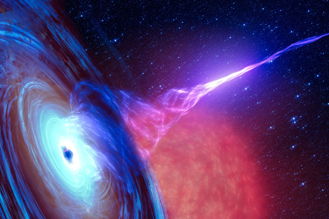 With Antarctica followed back to star destroyed by black hole, Ghost molecule that collided
