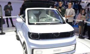 China's top rated, GM-upheld electric vehicle brand dispatches a smaller than normal convertible