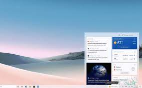 Climate and news are approaching to the Windows 10 taskbar