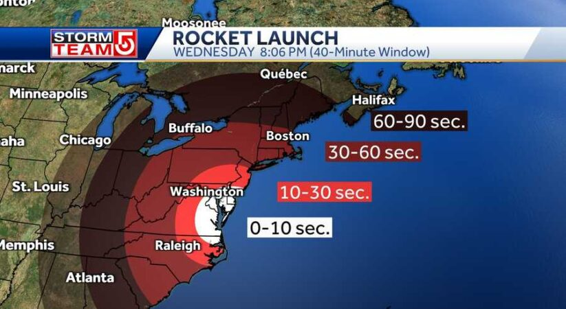 Massachusetts gets an opportunity to see NASA test dispatch Wednesday night