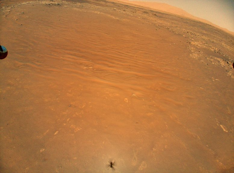Mars astronaut NASA Ingenuity helicopter finds Perseverance rover from above
